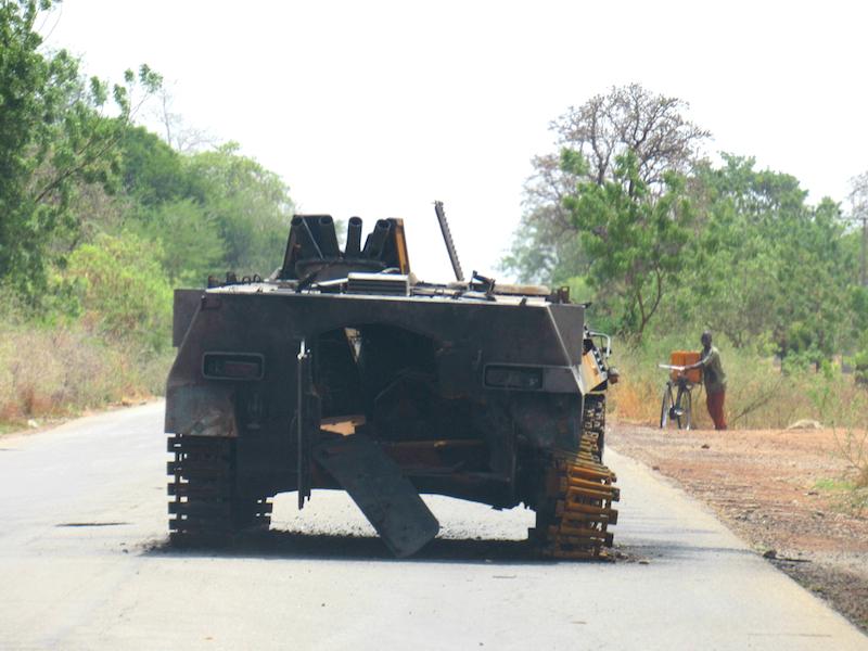 Abandoned Boko Haram tank site