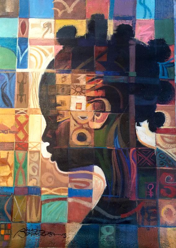 Bimbo Adenugba, Left Behind, Acrylic on canvas 41x29.5 site