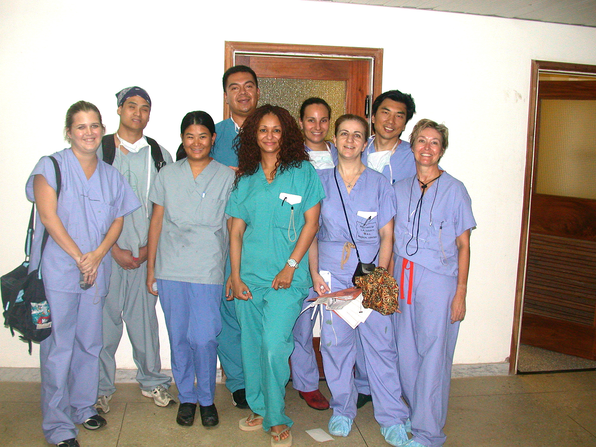 Volunteer medical team from California