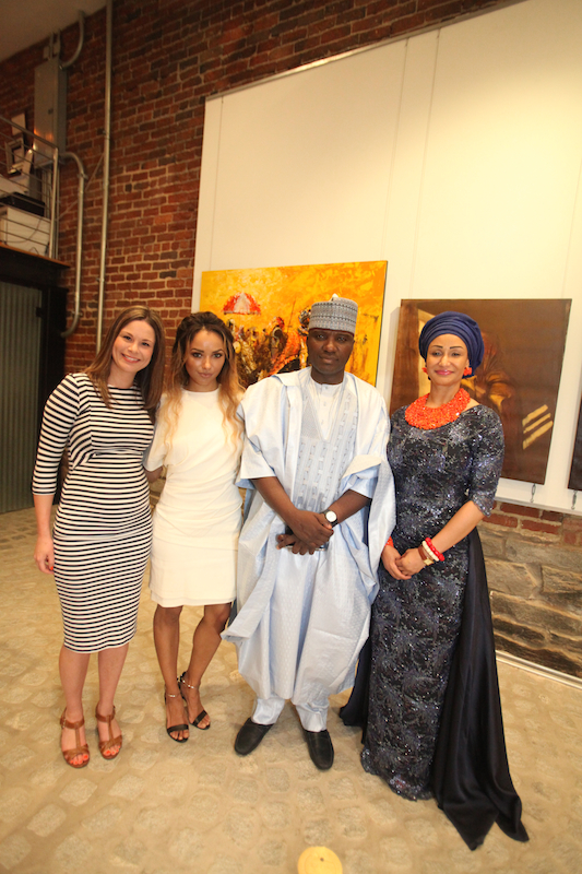 Claire Angelle, Kat Graham, Isa Gusau and Princess Modupe Ozolua