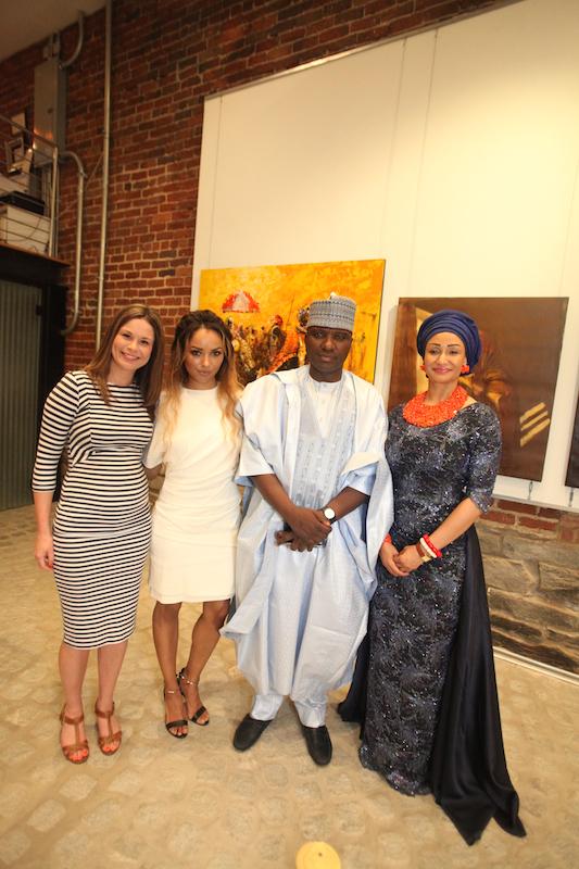 Claire Angelle, Kat Graham, Isa Gusau and Princess Modupe Ozolua