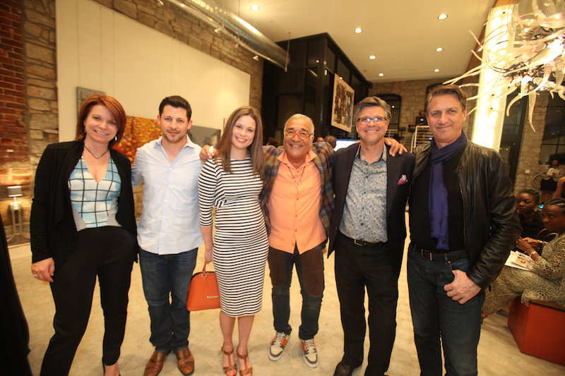 Claire Angelle, Massoud Besharat and guests
