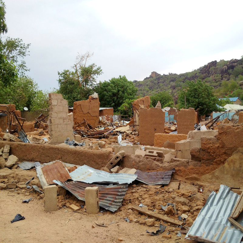 Community destroyed in Uba, Borno State site