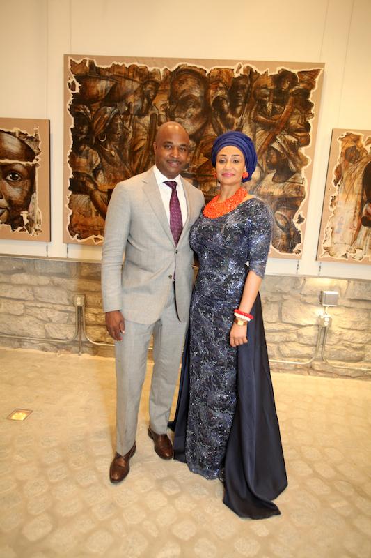 Councilman Kwanza Hall and Princess Modupe Ozolua