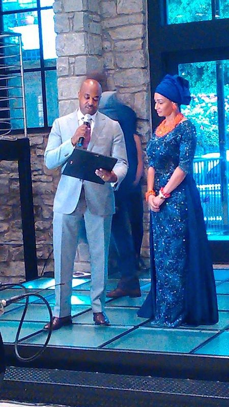 Councilman Kwanza Hall presenting Proclamation to Empower54