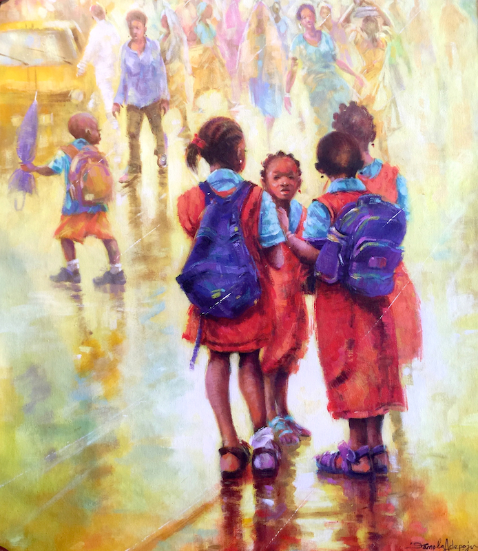 Damola Adepoju, Against All Odds, Acrylic on canvas 35x30 copy