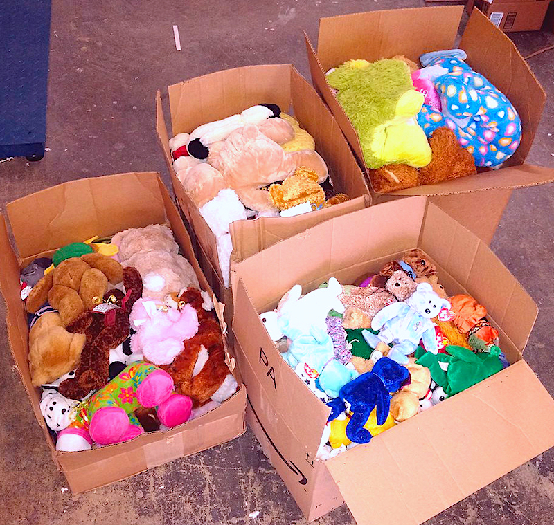 Donated toys site