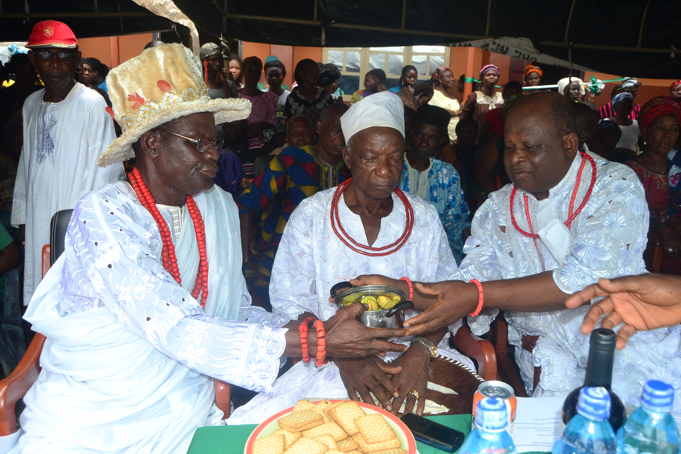 KIngs and elders in Owan West