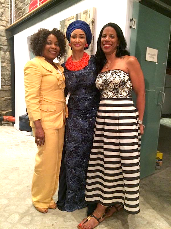 Linda, Modupe Ozolua and Tracy Ming