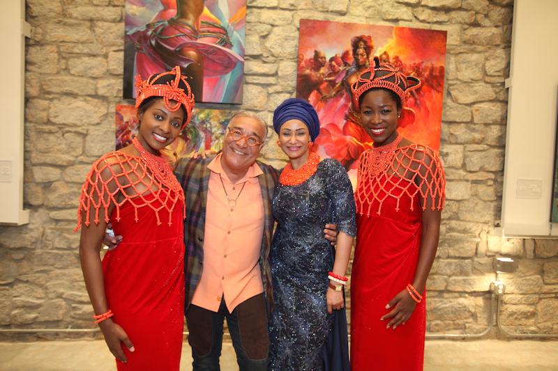Massoud Besharat, Princess Modupe Ozolua and ushers