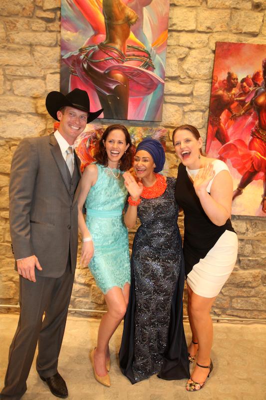 Miranda Berrett, Princess Modupe Ozolua and Heather Anderson