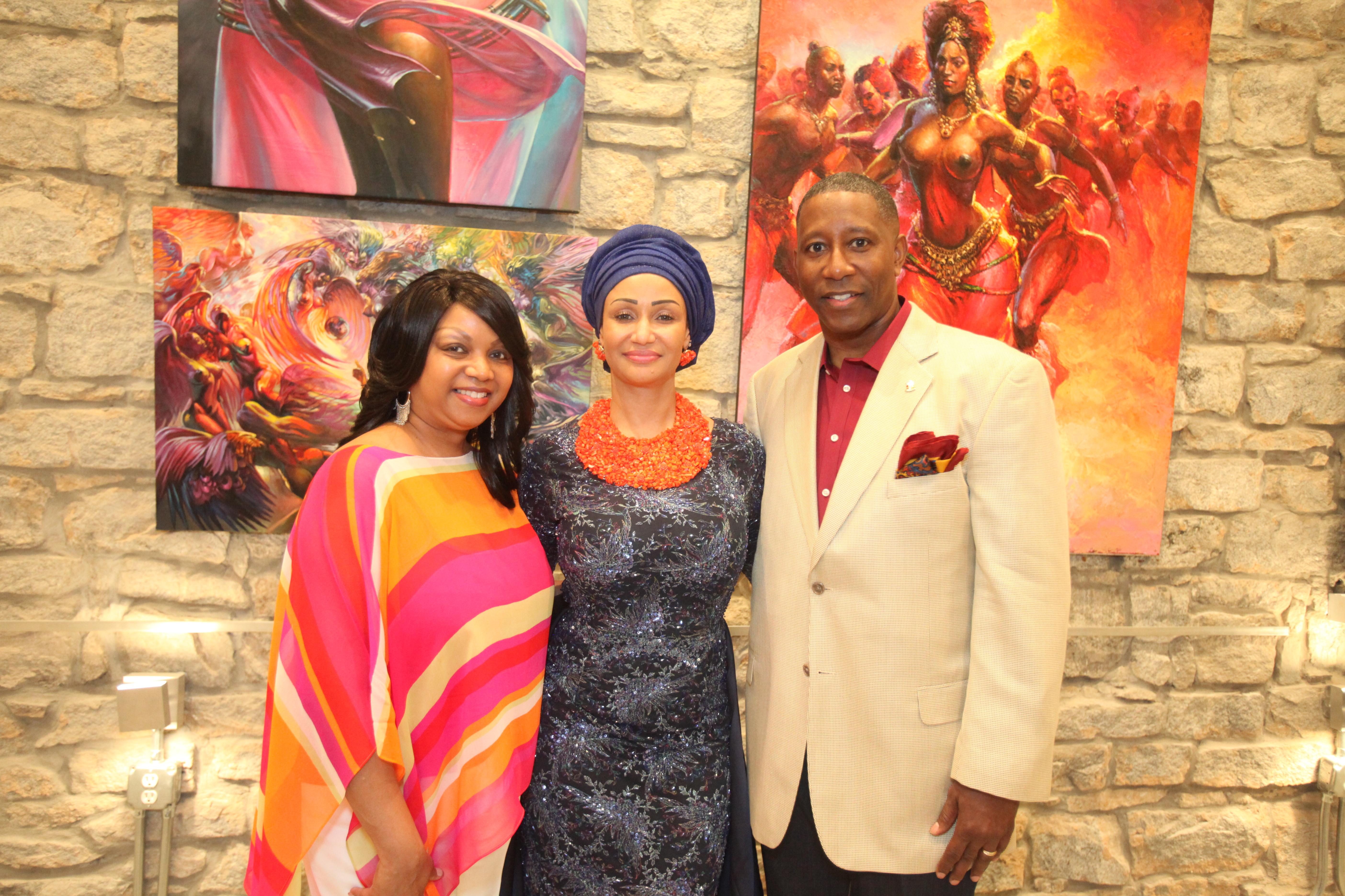 Mr and Mrs Ronald Stephens and Princess Modupe Ozolua