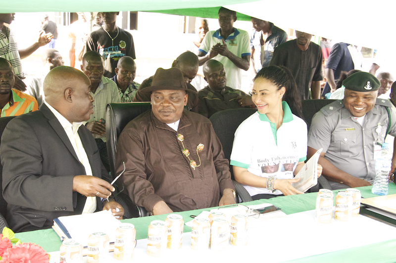 Opening ceremony, L-R Dr Owei commissioner for Health representing the Gov, Commissioner for Lands, Modupe Ozolua and Mike Achimugu representing the CG Customs copy