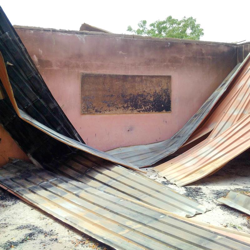 Para Primary and Nursery school, Askira, Uba, Borno State, classroom in school destoryed site