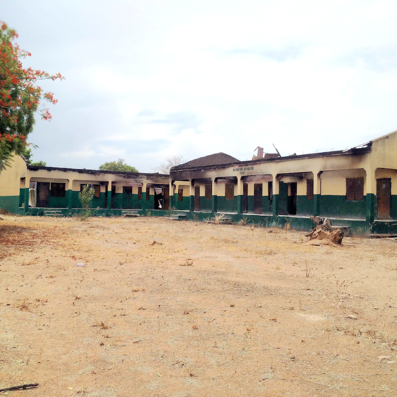 Para Primary and Nursery school, Askira, Uba, Borno State, completely destroyed site