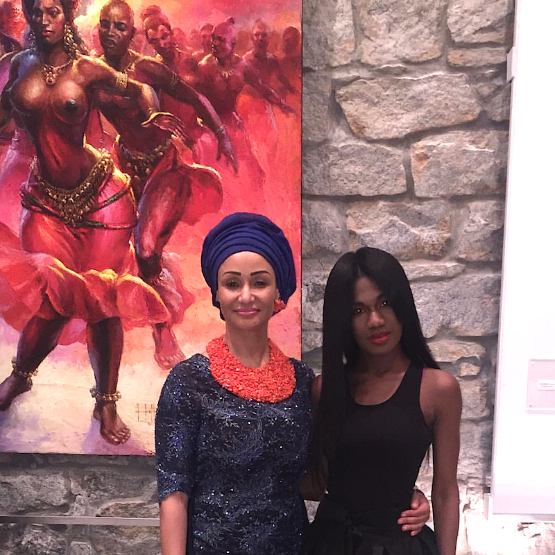 Princess Modupe Ozolua and Christiana Torere