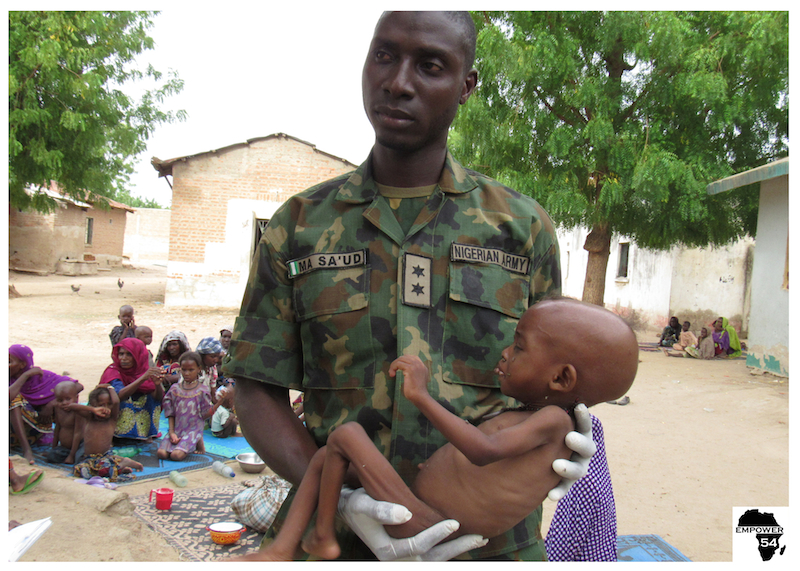 Soldier with baby site