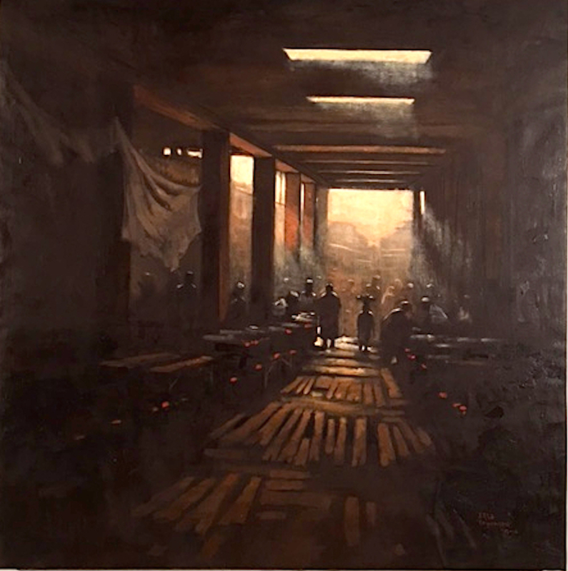 Tega Akpokoma, Luminance, Oil on canvas 40x40 site