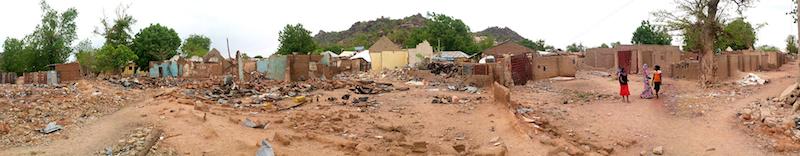 Uba comunity destroyed site