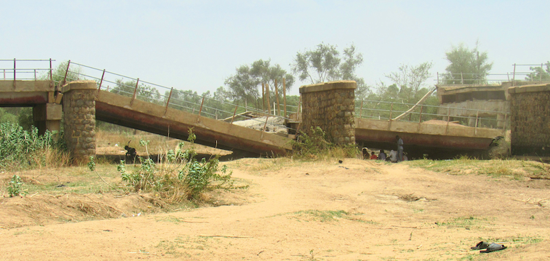destroyed bridge 2 site