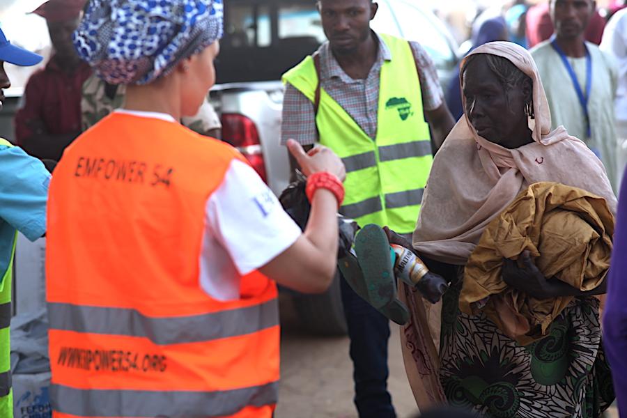 old IDP woman