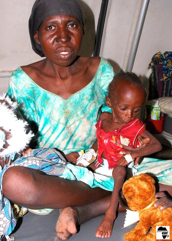 Empower54 evacuates malnourished children in Bama
