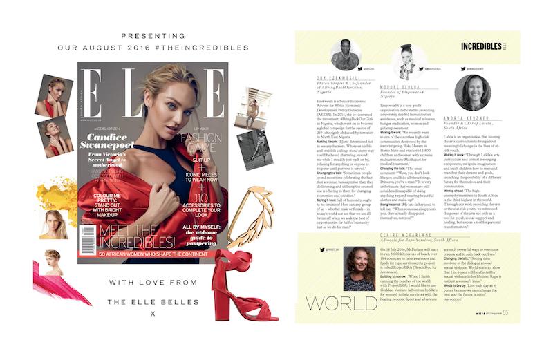 Elle Magazine SA recognizes Princess Ozolua