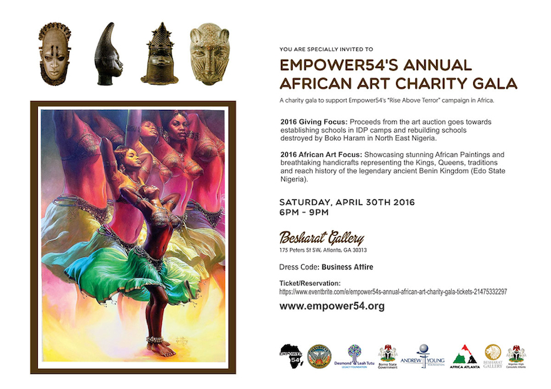 Empower 54 Annual African Art Charity Gala, Atlanta GA