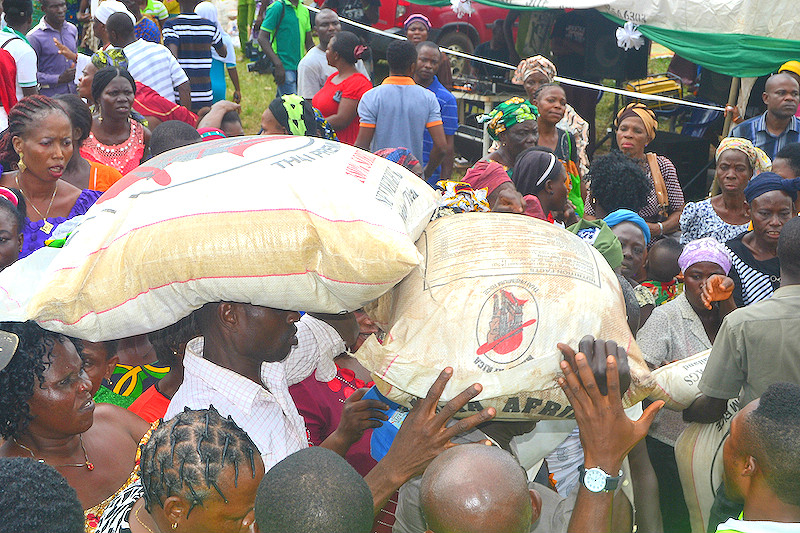 Over 5,000 families receive food in Edo State