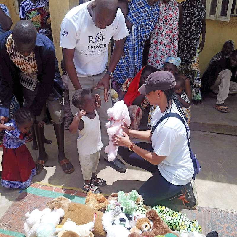 Donation of toys to children rescued from Boko Haram