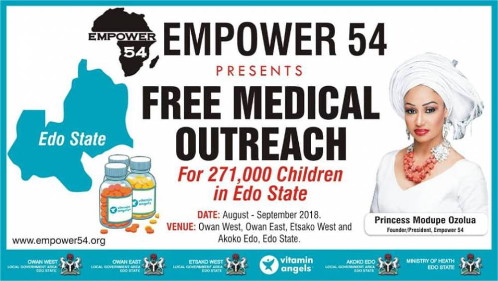 20,506 beneficiaries during distribution of medication in Edo State!